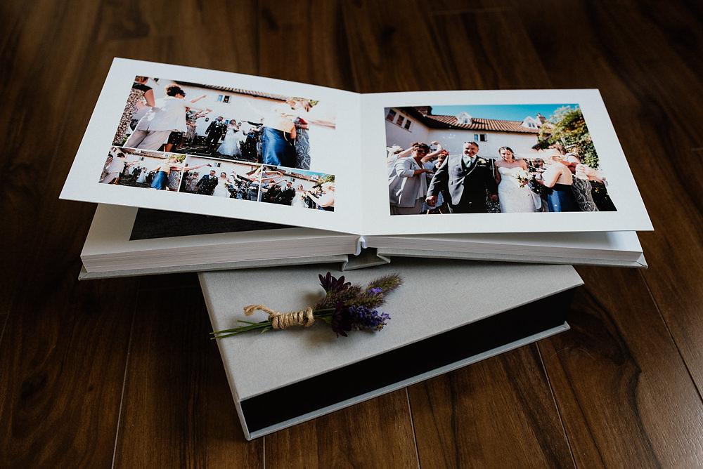 Elegant Wedding Album. Wedding Photographer Essex. Contemporary wedding album.